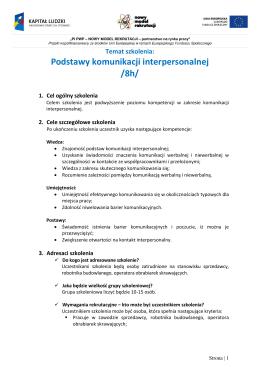 PF7 Szkolenie formalne Komunikacja
