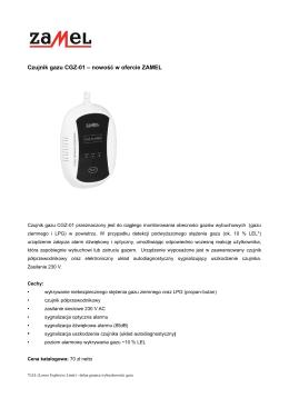 Czujnik gazu CGZ-01 - Centrum Elektryki.pl