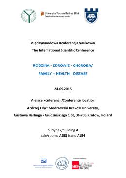 Conference Program Kraków 2015