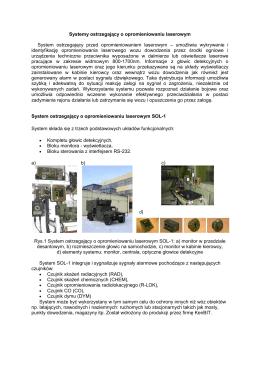 System ostrzegania o promieniowaniu laserowym