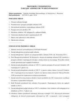 Protokół z posiedzenia 21.09.2015 r