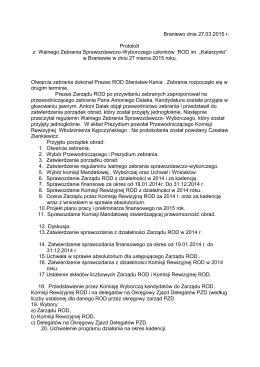 Protokół - ROD KATARZYNKI w Braniewie