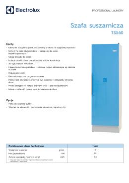 Szafa suszarnicza TS560