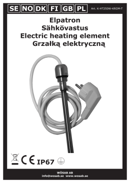 Elpatron Sähkövastus Electric heating element Grzałką