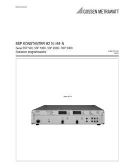 SSP KONSTANTER 62 N i 64 N - GMC