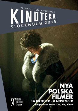 Kinoteka 2015 - ladda ner programet i pdf