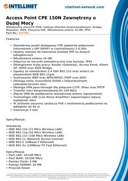 Access Point CPE 150N Zewnętrzny o Dużej Mocy