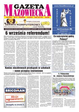 Numer 7/8 - Gazeta Mazowiecka (27.08.2015)