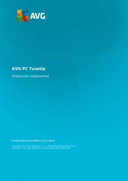 AVG PC TuneUp User Manual