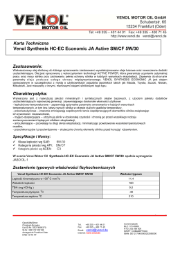 Venol Synthesis HC-EC Economic JA Active SM