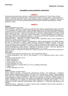 Szczegółowy opis przedmiotu zamówienia Zał Nr 1 do umowy