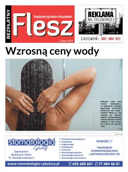 Wzrosną ceny wody - FLESZ Kędzierzyńsko
