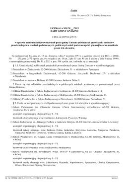 Uchwala Nr IX/__/2015 z dnia 22 czerwca 2015 r.
