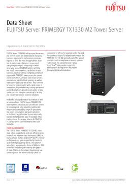 Data Sheet FUJITSU Server PRIMERGY TX1330 M2 Tower Server