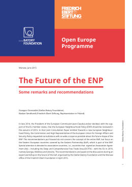 The Future of the ENP