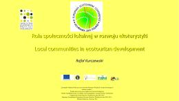 Rola społeczności lokalnej w rozwoju ekoturystyki