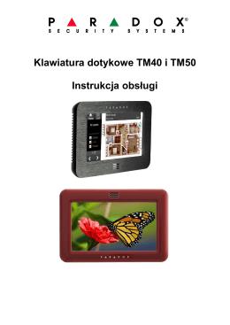 Klawiatura dotykowe TM40 i TM50 Instrukcja obsługi