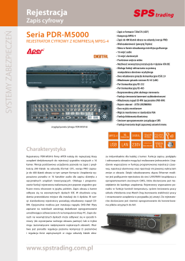 opis PDR-M50xx - Alarm