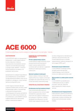 Karta katalogowa ACE 6000