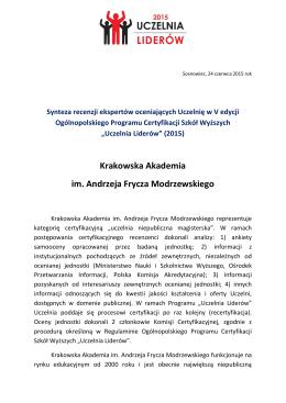 Krakowska Akademia im. Andrzeja Frycza Modrzewskiego
