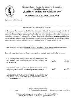 """""""Rośliny i zwierzęta polskich gór"""""""