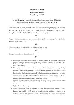 Zarządzenie 95/2015 Wójta Gminy Baranów w sprawie