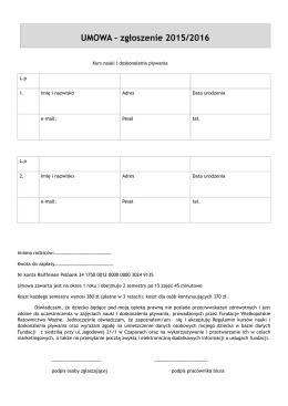 umowa pływanie Fundacja1
