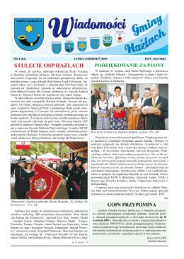 """""""WGH"""" 4/2009 - Gmina Hażlach"""