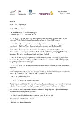 Agenda 09:30- 10:00- rejestracja 10:00-10:15