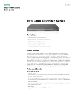 HPE 3100 EI Switch Series data sheet