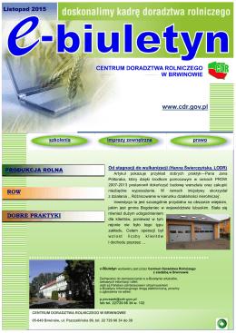 Nr 11 (84) - listopad 2015 - Centrum Doradztwa Rolniczego w