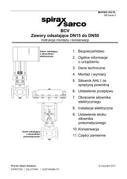 BCV Zawory odsalające DN15 do DN50