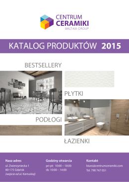 KATALOG PRODUKTÓW 2015
