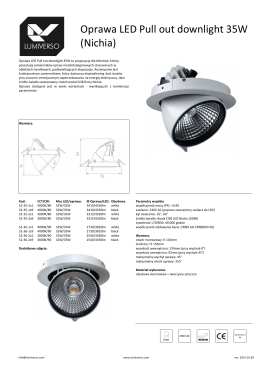 Oprawa LED Pull out downlight 35W (Nichia)