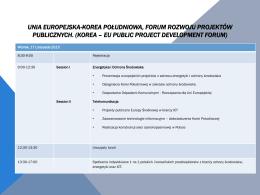 Unia Europejska-Korea Południowa, Forum Rozwoju Projektów