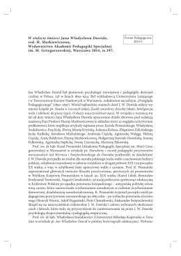 Artykuł w PDF - Forum Pedagogiczne