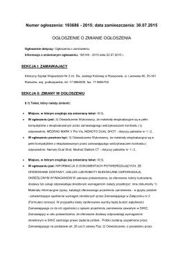 zp250_062_2015 Ogłoszenie o zamówieniu