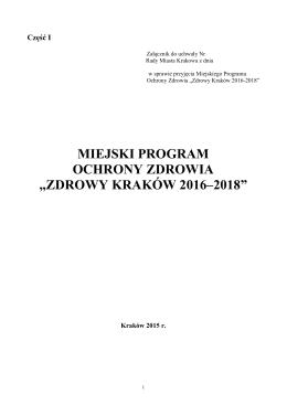 MPOZ ZDROWY KRAKÓW 2016-2018