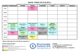GRAFIK FITNESS OD 07.09.2015 r.