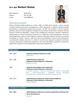 Zobacz pełne CV w formacie pdf