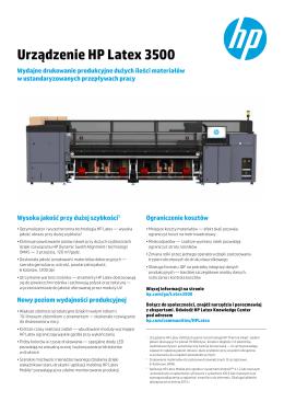 Urządzenie HP Latex 3500