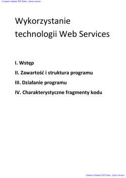 Wykorzystanie technologii Web Services