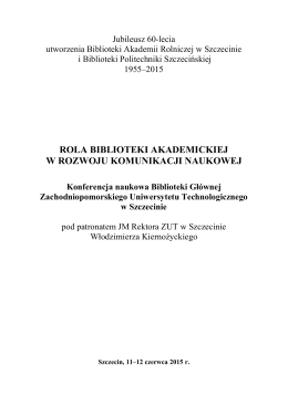 rola biblioteki akademickiej w rozwoju komunikacji