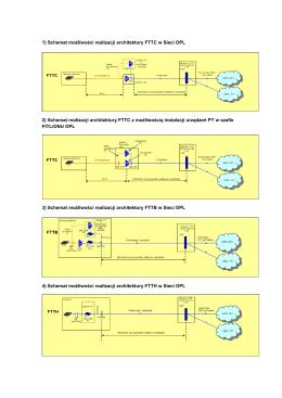 1) Schemat możliwości realizacji architektury FTTC w Sieci OPL 2