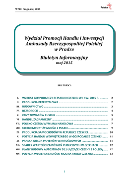 Biuletyn Informacyjny WPHI Ambasady RP w Pradze