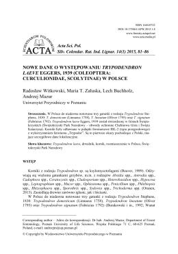 Acta L - Silvarum Colendarum Ratio et Industria Lignaria