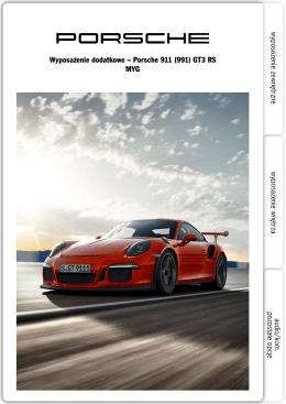 Wyposażenie dodatkowe – Porsche 911 (991) GT3 RS MYG