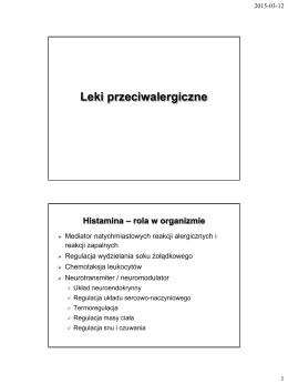 Leki przeciwalergiczne