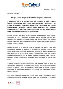 Informacja prasowa - Centrum Karier, Akademii Górniczo