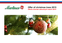 Offer of christmas trees 2015